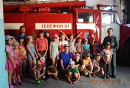 Экскурсия в пожарную часть № 1 города Таштагола